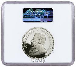 2021 South Africa 2 oz Silver Krugerrand Proof R2 Coin NGC PF70 UC FR