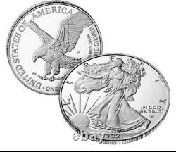 2021-W American Eagle One Ounce Silver Proof Coin (21EAN) Type 2 Confirmed