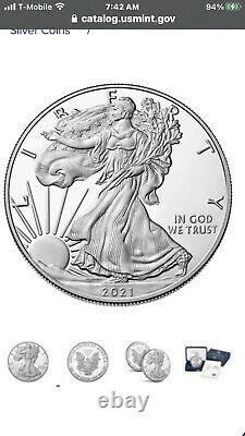 2021-W American Eagle One Ounce Silver Proof Coins