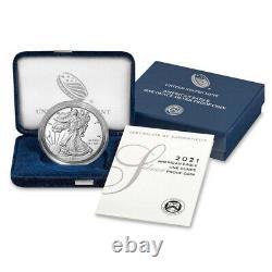 2021-W Proof $1 American Silver Eagle Box OGP & COA