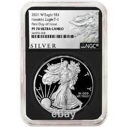 2021-W Proof $1 American Silver Eagle NGC PF70UC FDI ALS Label Retro Core