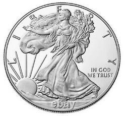 2021 W Proof Silver Eagle, Heraldic T-1, Ngc Pf70uc, Eagle/mountain Label