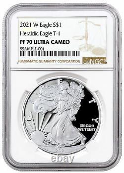 2021 W Silver Proof American Eagle NGC PF70 UC
