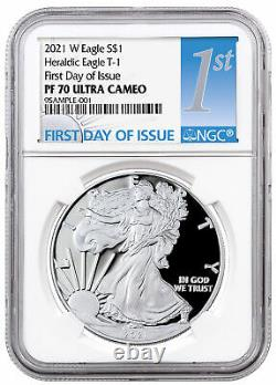 2021 W Silver Proof American Eagle NGC PF70 UC FDI First Day of Issue
