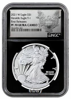 2021 W Silver Proof American Eagle NGC PF70 UC FR BC Excl Heraldic Eagle Label