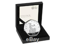 50 Years of the 50p 2019 UK 50p SILVER PROOF COIN BRAND NEW RELEASE 3500 WithWIDE