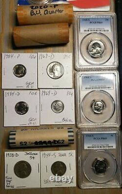 581 US Coin Lot RARE KEY DATES 1853-2020 PCGS NGC Silver MS Proof BU OBW Rolls