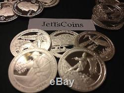 5 Troy Oz 90% Silver Round Proof ATB Park Quarters 25 Coin 2005 2016 2017 2018
