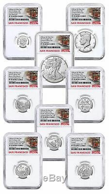 8 Coin 2019S US Limited Edition Silver NGC PF70 UC FR Trolley PRESALE SKU59514