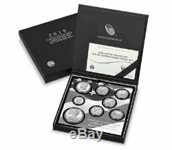 8 Coin Set 2019 S US Limited Edition Silver Proof Coins Set OGP SKU59509