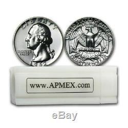 90% Silver Washington Quarters 40-Coin Roll Proof SKU #65653