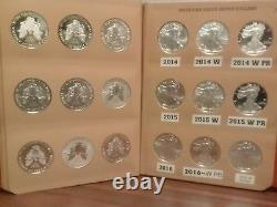 AMERICAN EAGLE SILVER DOLLAR SET 1986-2021 / 97 pcs. Withproofs, S, Burnished, Rev PR