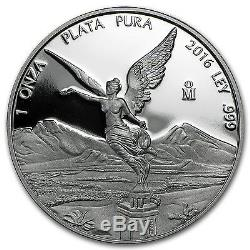 APMEXclusive! 2016 Mexico 2-Coin Silver Libertad Proof/Reverse Proof Set