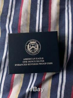 American Eagle 2019 One Ounce Silver Enhanced Reverse Proof Coin #32 Signed