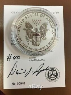 American Eagle 2019 One Ounce Silver Enhanced Reverse Proof Coin #40 Signed