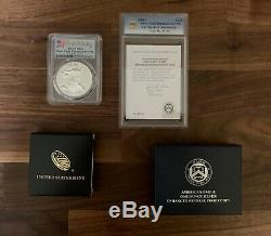 American Eagle 2019 One Ounce Silver Enhanced Reverse Proof Coin PCGS PR69 Crack