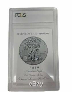 American Eagle 2019 One Oz Silver Enhanced Reverse Proof Coin First Strike PR 70