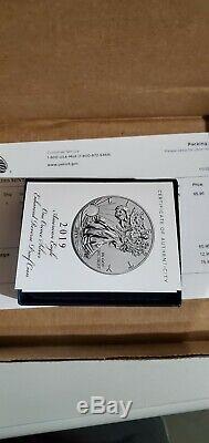 American Eagle 2019 S One Ounce Silver Enhanced Reverse Proof Coin coa #8759