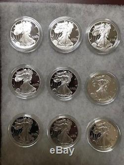 American Eagle Silver Coins Proof Set 1986-2019