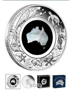Australia Great Southern Land 2021 1oz Silver Proof Mother of Pearl Coin