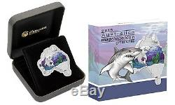 Australia MAP SHAPED COIN SERIES 2016 Great White Shark 1 OZ SILVER proof COIN