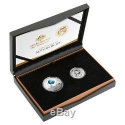 Australia USA 2019 50th Anni Apollo 11 Moon Landing 2-Coin Proof Set
