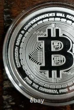 Bitcoin Proof 1 oz. 999 silver commemorative coin AOCS limited Original 2012