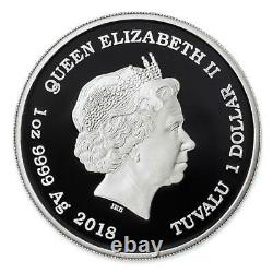 Black Panther Marvel 2018 1 Pure Silver Proof Coin Tuvalu