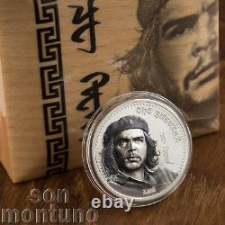 CHE GUEVARA 1 oz Silver High Relief Partially Colorized Proof Coin 2018 Mongolia