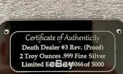 Death Dealer 2 OZ. 999 SILVER COIN PROOF FRANK FRAZETTA in airtite slab New