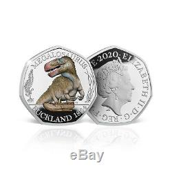 Dinosaur 50p Coin Megalosaurus Official Royal Mint Limited Edition Silver Proof