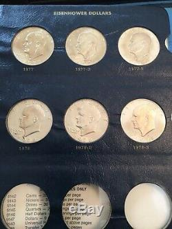 Eisenhower 1971-1978 Silver Dollar Complete 32 Coin Set! All BU And Proof Album