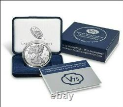 End of World War II 75th Anniversary American Eagle Silver Proof CoinOrder con