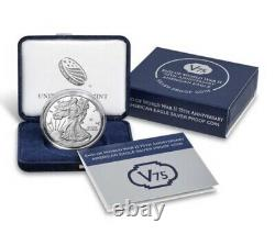 End of World War II 75th Anniversary American Eagle Silver Proof Coin SAME DAY