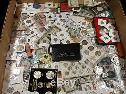 Estate Lot Of Silver / Gold / Currency / Mint Sets / Proof Sets / Bars / Coins