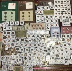 Huge Lot 350+ CoinsSilver Note MercuryBuffaloIndian1893ERRORProofWorld++