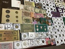 Huge Lot 400+Coin/StampSilver Certificate/Mercury/Buffalo/Indian/1893USA/World