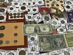 Huge Lot 400+Coins/Stamp$Silver/Barbers/Mercury/Buffalo/Indian/Two Cent/Shield+