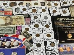 Huge Lot 450+Coin$/StampSilver Mercury/Buffalo/Indian/1912-D/Sets/Notes/Proof+