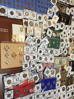 Huge Lot 450+Coin/StampSilver Note/Buffalo/V/IKE/Silver Proof/Error/IKEmore