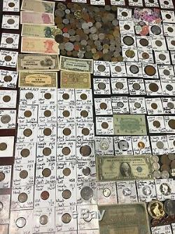 Huge Lot 450+Coin/StampSilver/Note/Mercury/Buffalo/Indian/WL/Franklin/Shield+