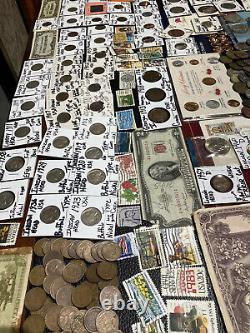 Huge Lot 500+ Coins/StampSilver Note$/Mercury/IKE/Buffalo/Indian/WL/Proof$/JFK+