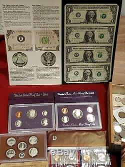 Huge coin/money lot, Eisenhower proof, NGC, Mercury dime, collection, silver, kennedy