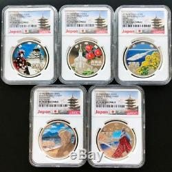 Japan 47 Prefectures Series S1000 Yen Proof Silver Coin NGC PF 70 UC 47 Coin-set