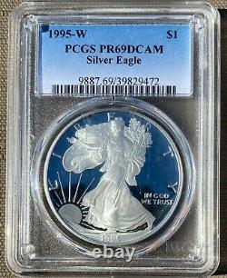 KEY DATE 1995-W Proof Silver American Eagle PCGS PR69 DCAM-10th Anniversary Set