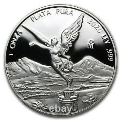 LIBERTAD MEXICO 2020 1 oz Proof Silver Coin in Capsule Mintage of 5,850