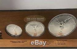 Libertad Reverse Proof 3 Coin Set Mexico 2018 5 Oz 2 Oz 1 Oz Silver Coins