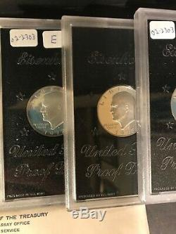 Lot of 41 1964-75 US Proof, Mint Sets, Uncirculated Coins, Eisenhower Proofs