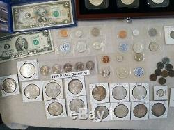 Massive Coin Collection- Uncirculated, Peace, Morgan, Silver Certificates, Proof