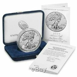 NEVER OPENED 2019-S American Eagle One Ounce Silver Enhanced Reverse Proof Coin